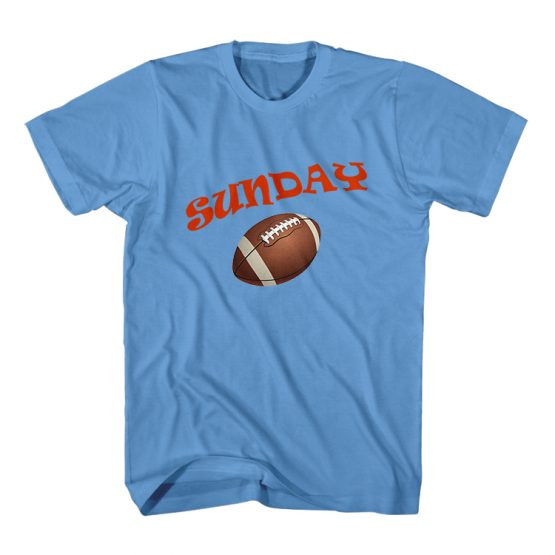 Dad and Son Matching T-Shirt Sunday Funday American Football by Clotee.com Father and Son Matching Tee Shirt Set