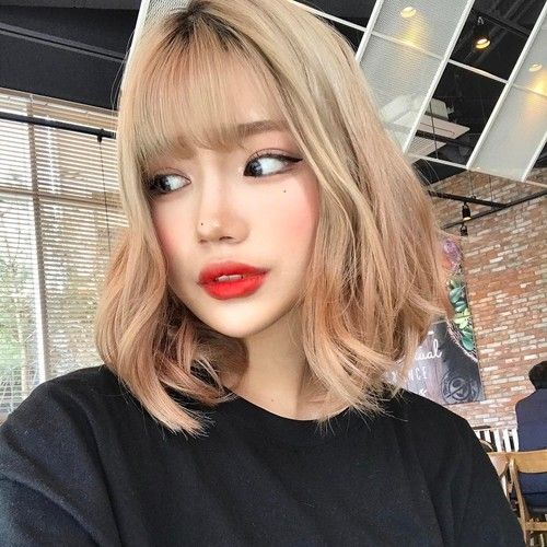 Long Bob with Korean Bangs