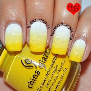 Ombre Summer Yellow Nail