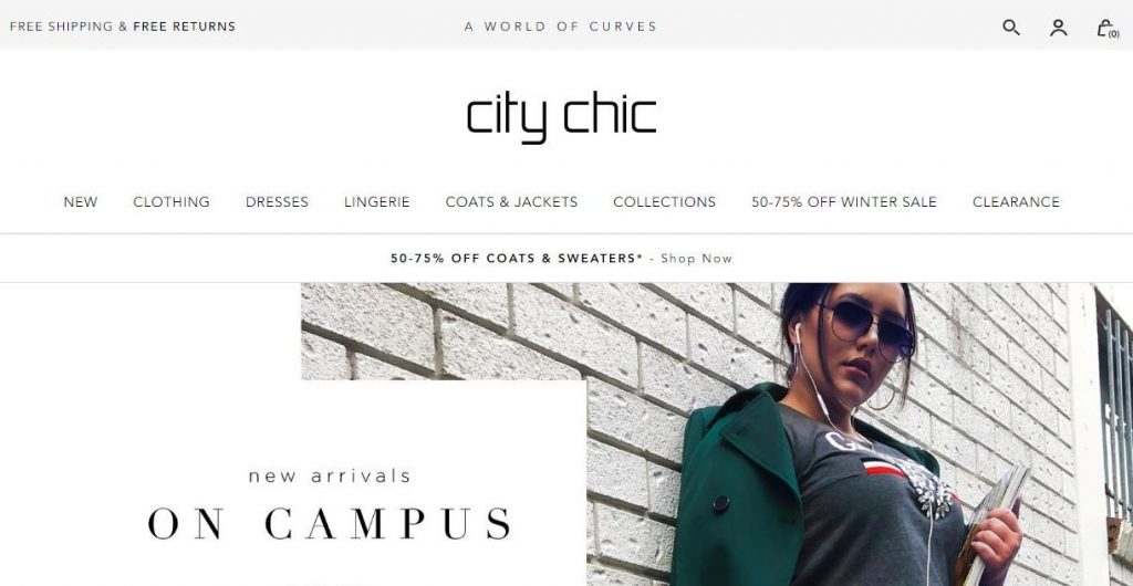 citychic plus size clothes online website screen capture