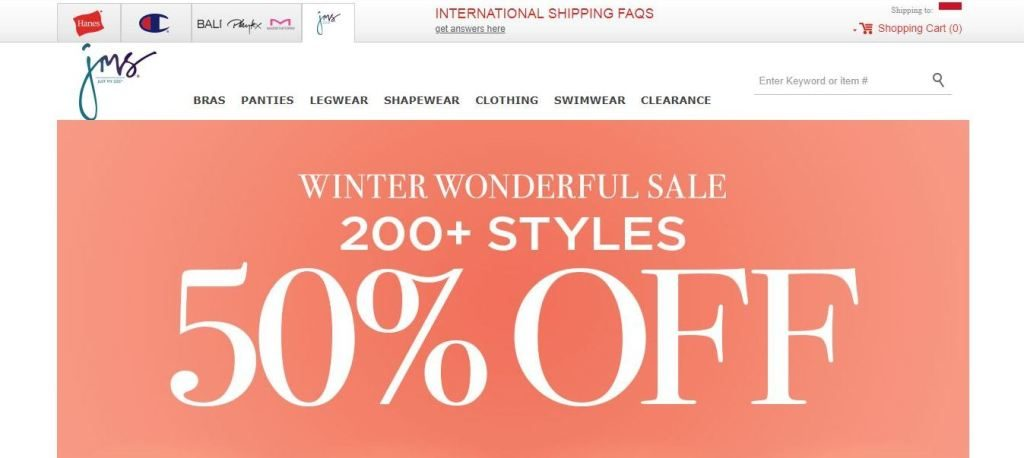 justmysize plus size clothes online website screen capture