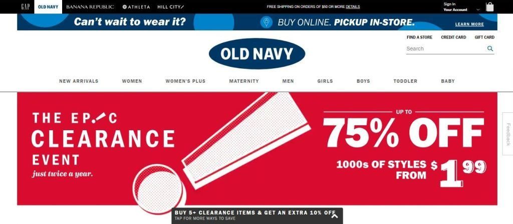 oldnavy plus size clothes online website screen capture