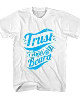T-Shirt I Have Beard Typography by Clotee.com Typography, Lettering, Calligraphy Men Women Crew Neck Tee