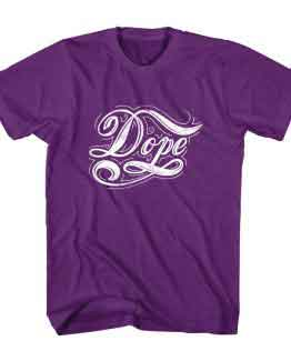T-Shirt Dope Typography by Clotee.com Typography, Lettering, Calligraphy Men Women Crew Neck Tee
