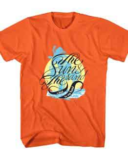 T-Shirt The Sun & Sand Beach Typography by Clotee.com Typography, Lettering, Calligraphy Men Women Crew Neck Tee