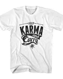 T-Shirt Keep Karma & Carry On Typography by Clotee.com Typography, Lettering, Calligraphy Men Women Crew Neck Tee