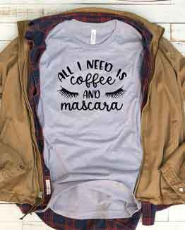 T-Shirt Coffee And Mascara Mom Life by Clotee.com New Mom, Boy Mom, Cool Mom