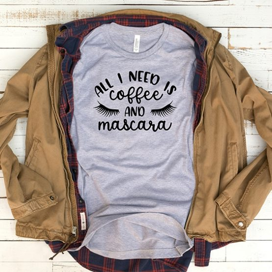 T-Shirt Coffee And Mascara Mom Life by Clotee.com New Mom, Boy Mom, Cool Mom
