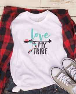 T-Shirt Mom Life Love My Tribe