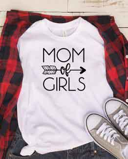 T-Shirt Mom Of Girls Mom Life by Clotee.com Mom Life, Funny Mom, Best Mom