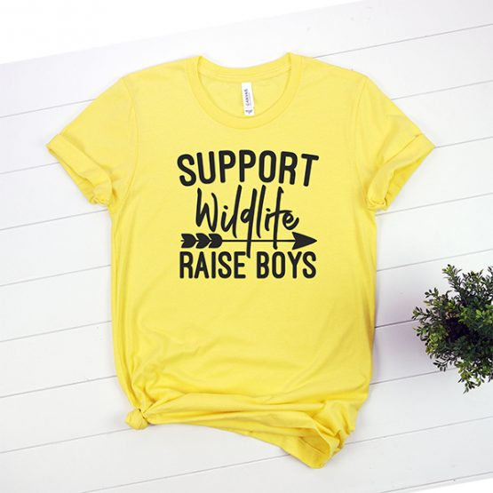 T-Shirt Support Wildlife Raise Boys Mom Life by Clotee.com Mom Life, Funny Mom, Best Mom