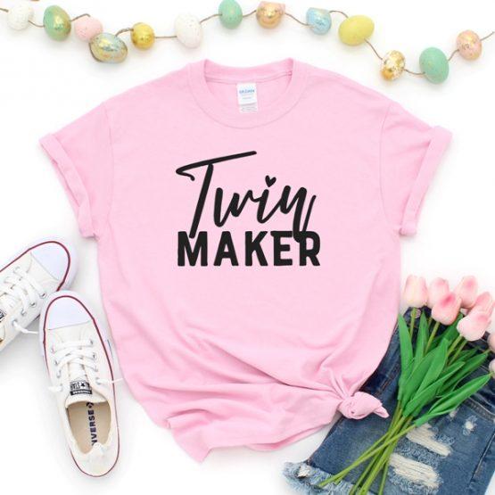 T-Shirt Twin Maker Mom Life by Clotee.com New Mom, Boy Mom, Cool Mom