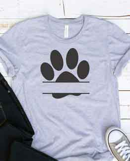 T-Shirt Zzz Paw Mono Pet Lover by Clotee.com Rescue Dog, Fur Mama, Dog Lover
