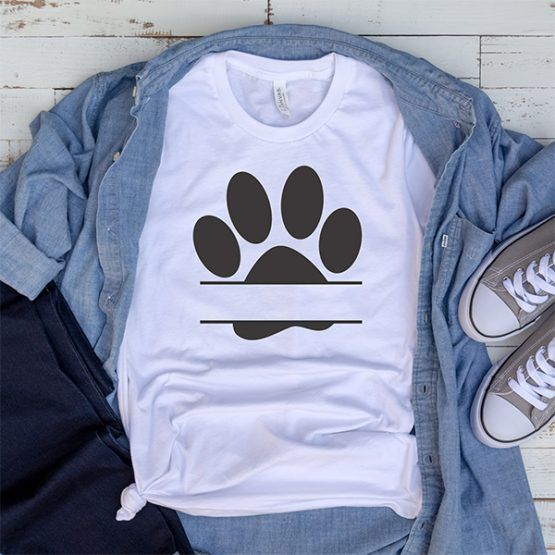 T-Shirt Zzz Paw Mono Pet Lover by Clotee.com Rescue Dog, Fur Mama, Dog Lover