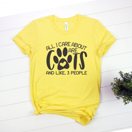 T-Shirt All I Care About Are Cats Pet Lover by Clotee.com Cat Mom, Love Cats, Gift For Cat Mom