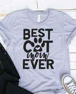 T-Shirt Best Cat Mom Ever Pet Lover