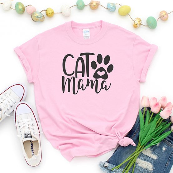 T-Shirt Cat Mama Pet Lover by Clotee.com Rescue Cat, Purr Mama, Cat Lover