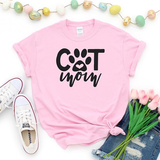 T-Shirt Cat Mom Pet Lover by Clotee.com Rescue Cat, Purr Mama, Cat Lover