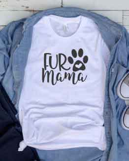 T-Shirt Fur Mama Pet Lover by Clotee.com Cat Mom, Love Cats, Gift For Cat Mom