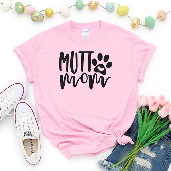 T-Shirt Mutt Mom Pet Lover by Clotee.com Rescue Cat, Purr Mama, Cat Lover
