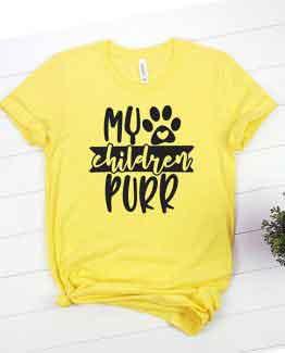 T-Shirt My Children Purr Pet Lover