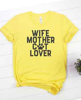 T-Shirt Wife Mother Cat Lover Pet Lover by Clotee.com Rescue Cat, Purr Mama, Cat Lover