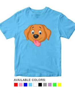 Dog Toddler Kid Children T-Shirt Animal Head Toddler Children Tee. Printed and delivered from USA or UK.