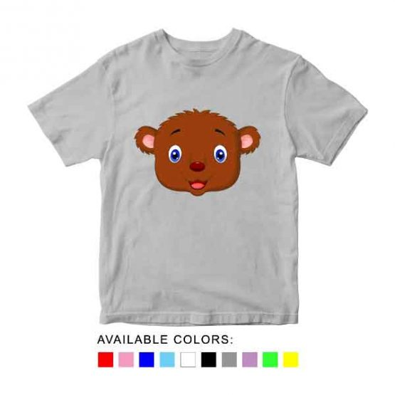 Bear Toddler Kid Children T-Shirt Animal Head Toddler Children Tee. Printed and delivered from USA or UK.