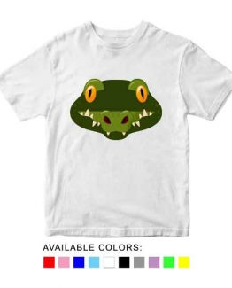 Crocodile Toddler Kid Children T-Shirt Animal Head Toddler Children Tee. Printed and delivered from USA or UK.
