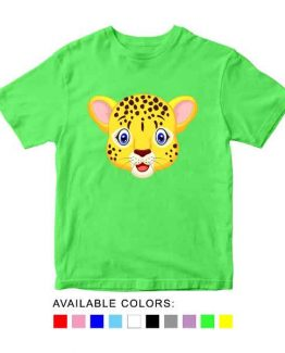 Cheetah Toddler Kid Children T-Shirt Animal Head Toddler Children Tee. Printed and delivered from USA or UK.