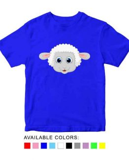 Sheep Toddler Kid Children T-Shirt Animal Head Toddler Children Tee. Printed and delivered from USA or UK.
