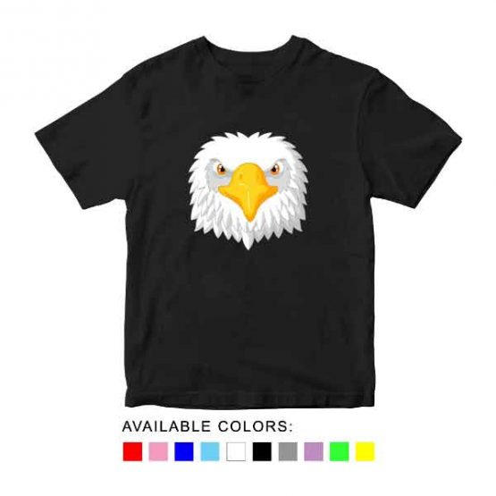 Eagle Toddler Kid Children T-Shirt Animal Head Toddler Children Tee. Printed and delivered from USA or UK.