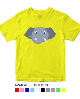 Elephant Toddler Kid Children T-Shirt Animal Head Toddler Children Tee. Printed and delivered from USA or UK.