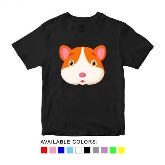 Hamster Toddler Kid Children T-Shirt Animal Head Toddler Children Tee. Printed and delivered from USA or UK.