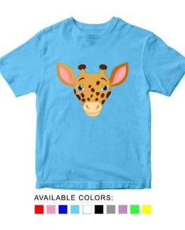 Giraffe Toddler Kid Children T-Shirt Animal Head Toddler Children Tee. Printed and delivered from USA or UK.