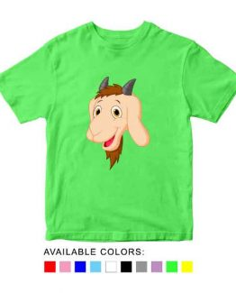 Goat Toddler Kid Children T-Shirt Animal Head Toddler Children Tee. Printed and delivered from USA or UK.