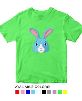 Rabbit Toddler Kid Children T-Shirt Animal Head Toddler Children Tee. Printed and delivered from USA or UK.