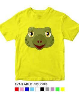 Turtle Toddler Kid Children T-Shirt Animal Head Toddler Children Tee. Printed and delivered from USA or UK.