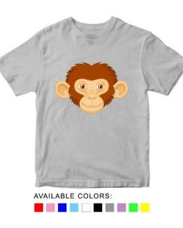 Monkey Toddler Kid Children T-Shirt Animal Head Toddler Children Tee. Printed and delivered from USA or UK.