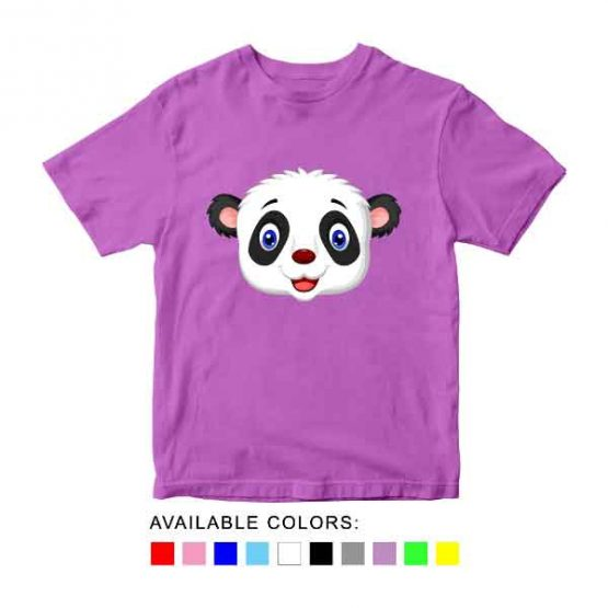 Panda Toddler Kid Children T-Shirt Animal Head Toddler Children Tee. Printed and delivered from USA or UK.
