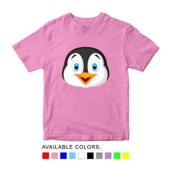 Penguin Toddler Kid Children T-Shirt Animal Head Toddler Children Tee. Printed and delivered from USA or UK.