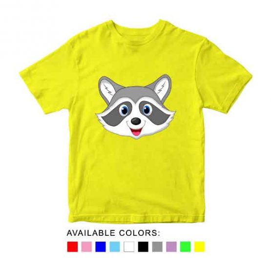 Raccoons Toddler Kid Children T-Shirt Animal Head Toddler Children Tee. Printed and delivered from USA or UK.