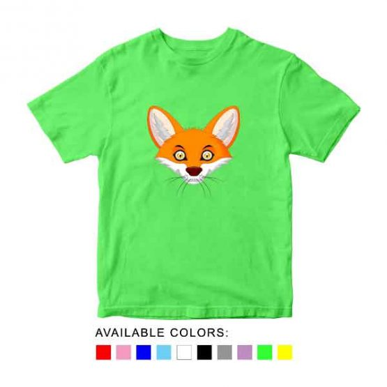 Fox Toddler Kid Children T-Shirt Animal Head Toddler Children Tee. Printed and delivered from USA or UK.