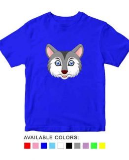 Wolf Toddler Kid Children T-Shirt Animal Head Toddler Children Tee. Printed and delivered from USA or UK.