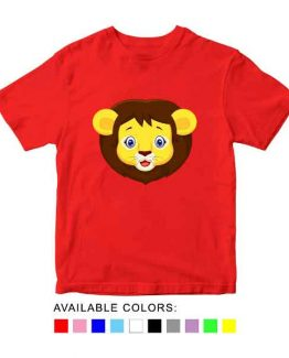 Lion Toddler Kid Children T-Shirt Animal Head Toddler Children Tee. Printed and delivered from USA or UK.