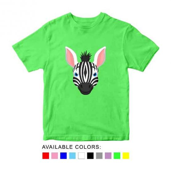 Zebra Toddler Kid Children T-Shirt Animal Head Toddler Children Tee. Printed and delivered from USA or UK.
