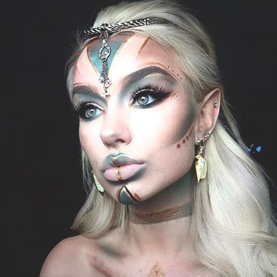 alien elf makeup look haloween makeup ideas