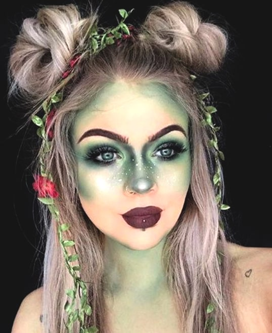 alien halloween makeup idea