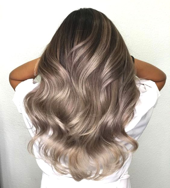 ash brunette balayage hair color