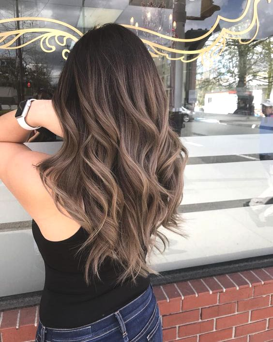 ash brunette hair trend fall hair colors